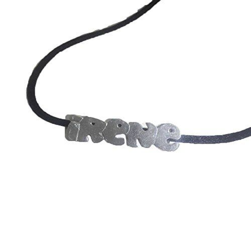 Necklace with name with Satin